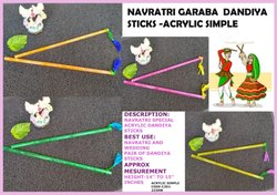Plain Color Acrylic Simple Dandiya Stick - Navratri Special