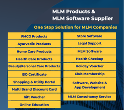 Turnkey Projects for MLM Multi level marketing, Direct Selling, Marketing company