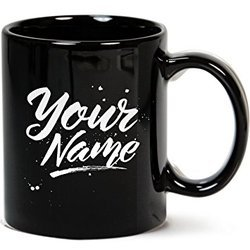 Black Printed Mugs Logo, Name, Brand Photo