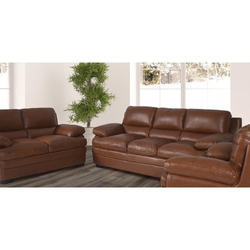 5 Seater Brown Leather Sofa Set Rs 12000 Set Royal Furniture Id 19817356691