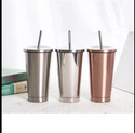 Steel Cup With Straw