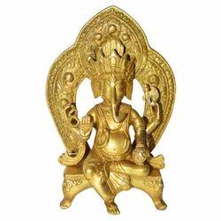Brass Mehraph Ganesha Statue