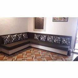 Cushion Back L Shaped Sofa Set