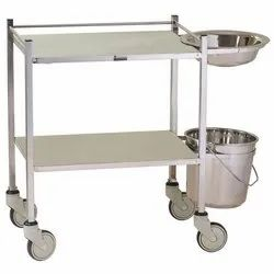 SS Dressing Trolley with Bowl