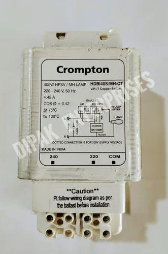 Cromptom Sodium & Metal Halide Ballast Choke 400 Watt, 240v, Rs 1390 on