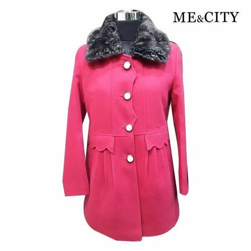 9b09d7866b94 Casual Fancy Ladies Woolen Long Coat