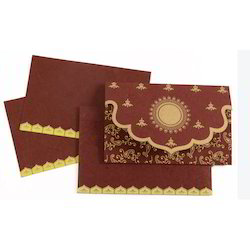 Red and Golden Wedding Card