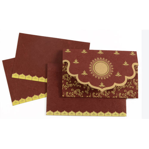 red and golden wedding card at rs 30 piece marriage invitation