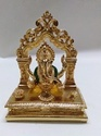 Golden Seating Ganesha Statue