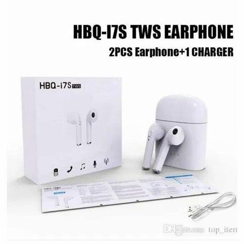8351ddb742f White Mobile HBQ I7S TWS Twins Bluetooth Earphone, Packaging Type: Box