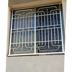 Steel Ss Grill Windows, For Home,Office, Material Grade: 304 And 202