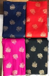 Multi Color Printed 140 GSM Rayon Gold Print Fabric