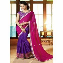 Ladies Cotton Designer Saree, Packaging: Packet