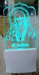 Sai Baba Five Color Two Pin Light Lamp