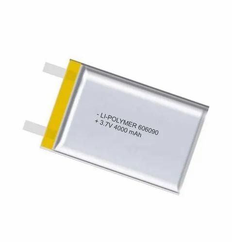 3.7 V Li-Polymer Battery Cell 4000 mAh, Battery Type: Lithium-Polymer