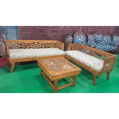 Brown Designer Teak Wood Sofa Set Rs 35000 Set N S Furniture Id 20681749797