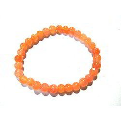 Carnelian Gemstone Beads Bracelet