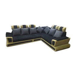 L Shape Wooden Sofa Set for Sitting