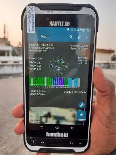 Handheld Nautiz X6 High Accuracy GNSS receiver