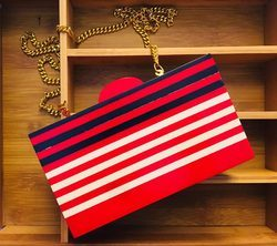 Clutch Bags With Wooden Frame