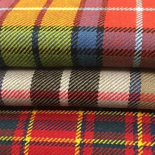 Woolen Fabrics Wool Plaid Fabric Manufacturer From Ludhiana