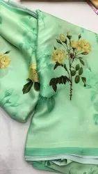 Fancy Floral Satin Saree Rs 1350