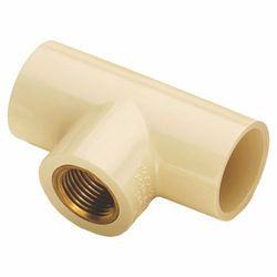 Rio CPVC Reducing Brass Tee, for sewer