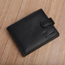 LWFM00258 Mens Black Genuine Leather Wallet