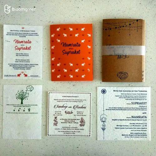 Plantable Seed Paper Wedding Invitation Card