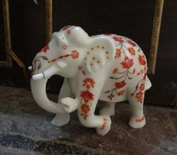 Decorative Elephant with Inlay Work