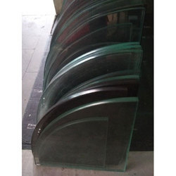 Wall Mounted Glass Corner Shelf