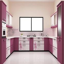 U Shaped Modular Kitchen