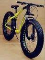 Carbon Steel Green Black Jaguar Freedom Fat Tyre Cycle - Mountain Bike 26t, Brake Type: Mechanical Disc Break, Size: 26 Inch
