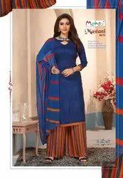 Rayon,Cotton Mehta Mastani Patiyala Dress Material