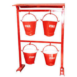 Safety Fire Bucket With Stand