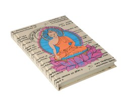 Handmade Paper Journal Diary Notebook Buddha Design