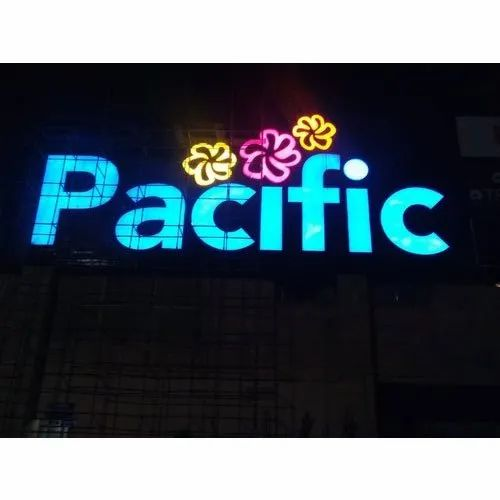 Graphics Channel LED Letter Signage, For Advertising, Shape: Rectangle