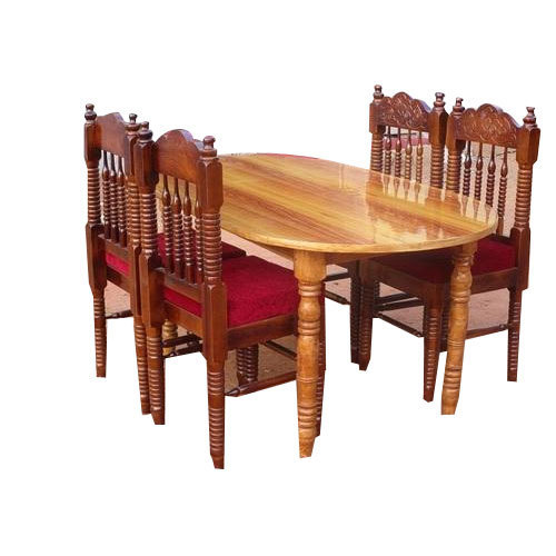 Wooden Dining Table Set: Brown Wooden Dining Table Set, Rs 16000 /set, Royal