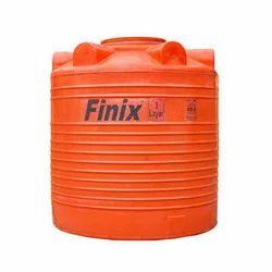 Orange Round Plastic Water Storage Tank