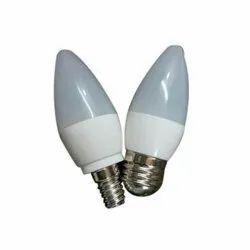 Plastic,Aluminium Available In 6 color LED Candle Bulb, 3 W, B22,E27