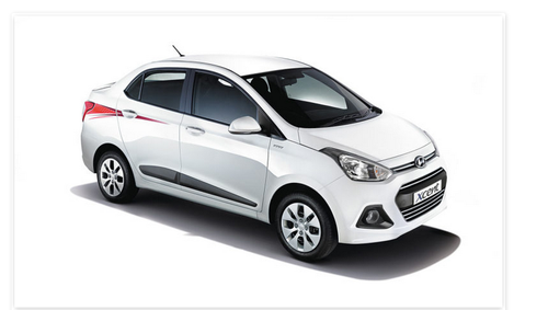 White Hyundai Xcent Car Srishti Motors Pvt Ltd Id 20977297133
