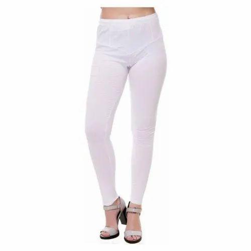 Ladies Cotton Lycra Plain White Legging क टन ल इक र ल ग ग Sakshi Creation Kolkata Id 21736675297