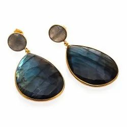 Blue Fire Labradorite Earrings