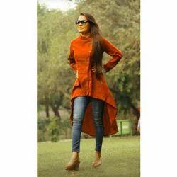 Plain Casual Wear Designer Khadi Kurtis, Hand Wash