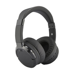 Black Wired Noise Canceling Headphones, Packaging Type: Box