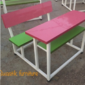 Wood And Iron Nursery School Desk