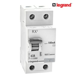 Legrand RX3 100mA 63 A Two Pole RCCB