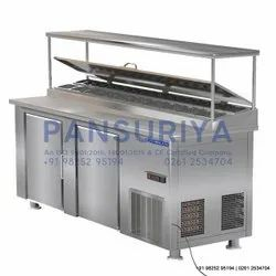 Silver Under Counter Refrigerator, For Industrial, -5 To 8