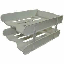 Office Papers and Files Organizer Table Tray - 2 Tier, Size: 15 x 11 x 7.2 Inch