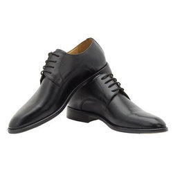Mens Leather Black Formal Shoes, Size: 6 to 11